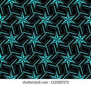 Modern geometric ornament. Seamless vector illustration for design.