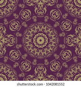 Modern geometric pattern. Vector illustration in perfect matching color tones. For design, interior, fashion