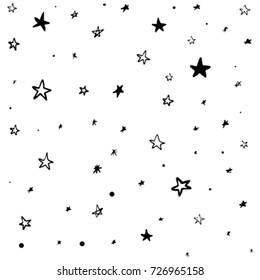 Modern Geometric Star Pattern. Vector Star Pattern Background