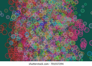 Modern geometrical circles, bubbles, sphere or ellipses background pattern abstract. Vector illustration graphic.