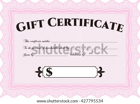 modern gift certificate template stock vector royalty free