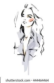 Modern girl sketch