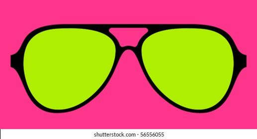 modern glasses frame in bright colours