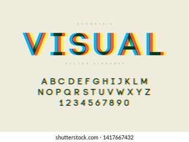 Modern glitchy font. Esp10 vector.