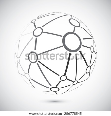 modern globe connections network design vector stock vector royalty Network Design Software modern globe connections network design vector illustration