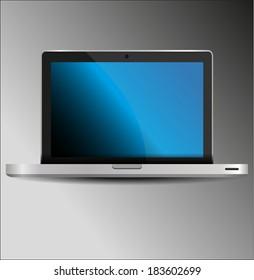 Modern glossy laptop vector