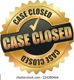 modern gold black case closed vector eps10 badge sign