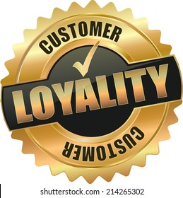 modern gold black customer loyality vector eps10 badge sign