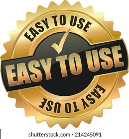 modern gold easy to use vector eps10 badge sign
