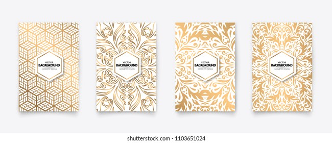 Modern gold ornament style pattern texture background