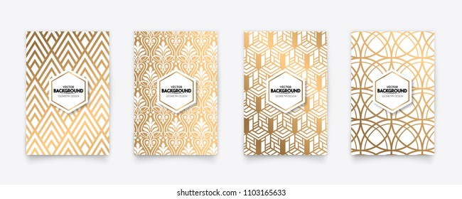 Modern gold pattern art deco geometry style texture background