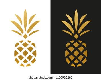 Modern Golden Pineapple Shape