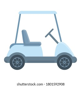 Modern golf cart icon. Cartoon of modern golf cart vector icon for web design isolated on white background