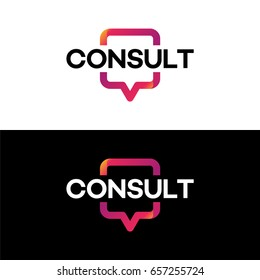 Modern Gradient Consulting agency logo template designs