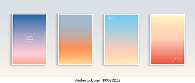 Modern gradients summer, sunset and sunrise sea backgrounds vector set. color abstract background for app, web design, webpages, banners, greeting cards. Vector illustration design.