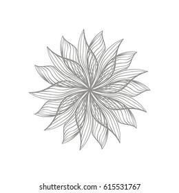 Modern graphic design of monochrome dahlia