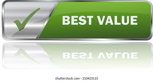 modern green best value sign