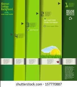Modern green ecology design template