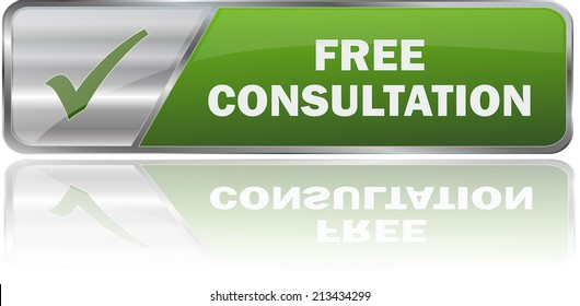 modern green free consultation label sign