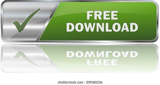 modern green free download button