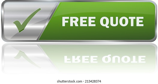 modern green free quote label sign