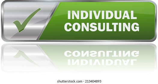 modern green individual consulting sign