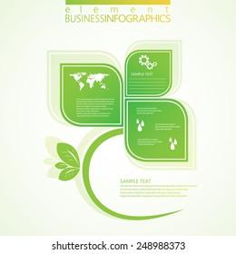Modern green infographic design. Vector illustration.