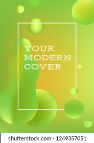 Modern green and yellow stylish geometric background. Gradient shapes composition for brochures, flyers etc. Eps10 vector image.