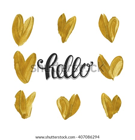 Modern Greeting Card Template Cute Design Stock Vector (Royalty Free ...