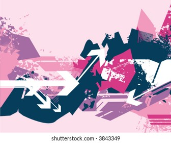 Modern grunge background series with many arrows, vector illustration.