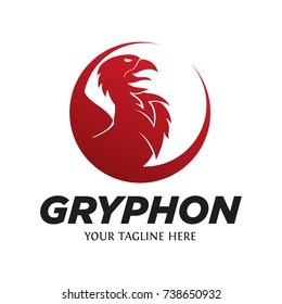 Modern Gryphon Logo Vector Logo Template