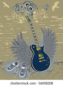 modern guitar and shoes for you creation)))
