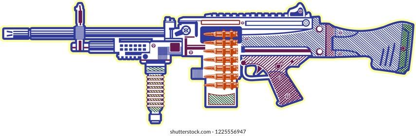 Modern  Guns: automatic weapon