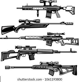 Modern  Guns: Modern sniper rifles