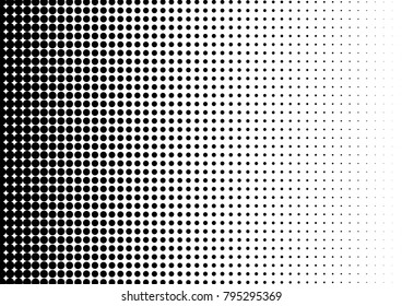 Modern Halftone Background. Abstract Pattern. Pop-art Gradient Backdrop. Distressed Texture. Vector illustration
