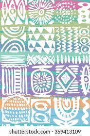 Modern hand drawn seamless pattern. Vector illustration.