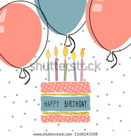 Modern Happy Birthday Greeting Cards Design