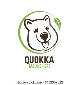 Modern head of the animal quokka logo.
