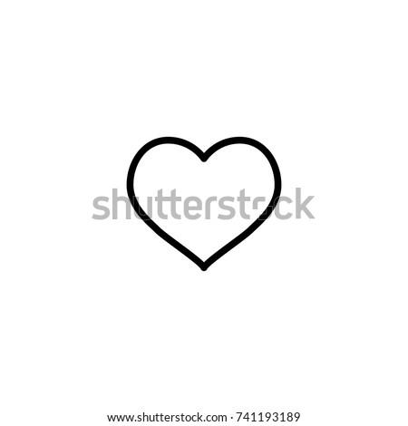 Modern Heart Line Icon Premium Pictogram Stockvector Rechtenvrij
