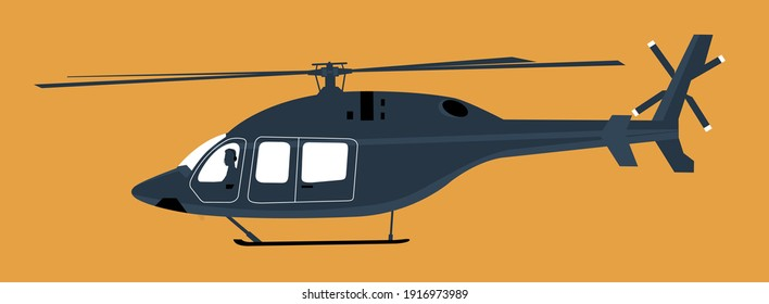 Modern helicopter icon isolated. Vector illustration.