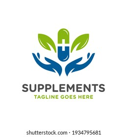 modern herbal medicine logo design