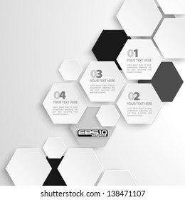 Modern Hexagon Design - eps10