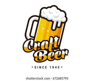 Modern High Quality Beer Emblem Logo Design
