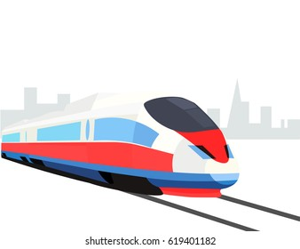 modern high speed train .transportation. vector illustration