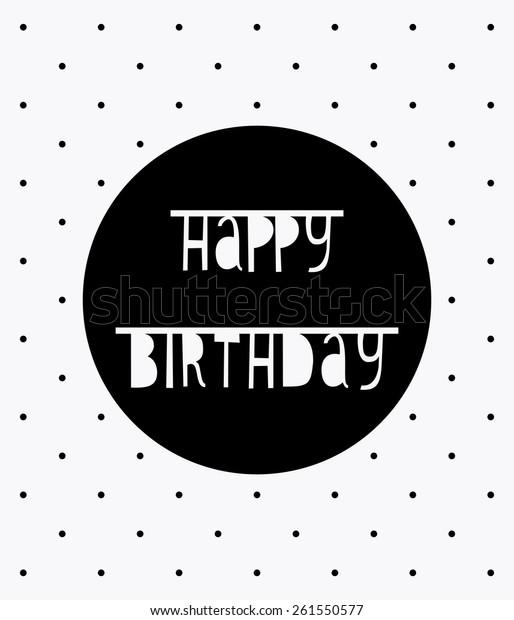 Modern Hipster Card Happy Birthday Polka Stock Vector