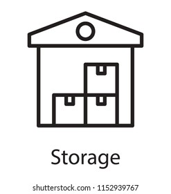 Modern home having packages inside, gripping icon for warehouse
