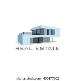 Modern Home logo vector design, real estate building icons