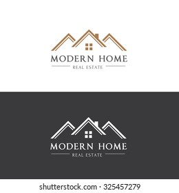 Modern Home, Real estate logo