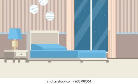 Modern Hotel Bedroom Interior
