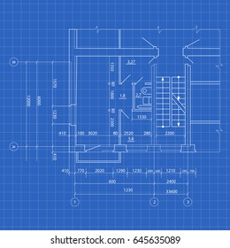 Modern House Blueprint Design